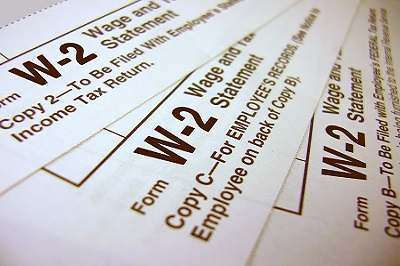 w-2 document for income tax filing